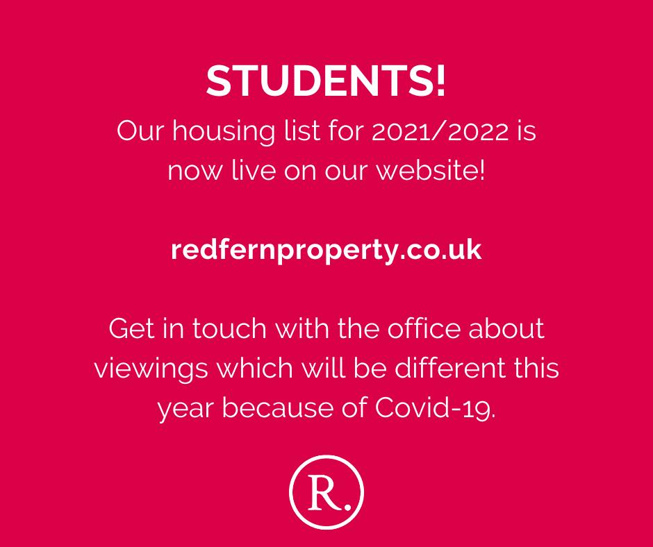 Student Housing List 2021!